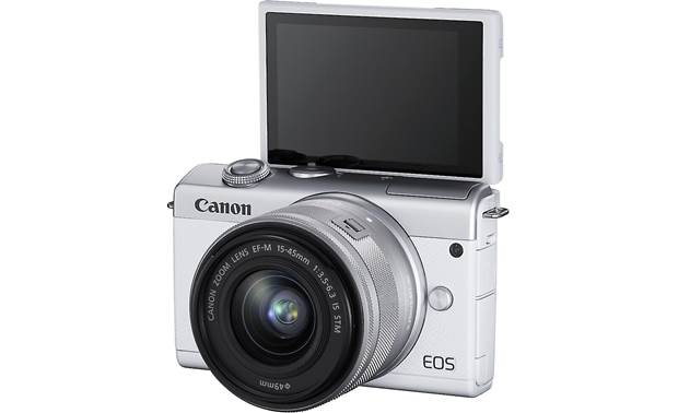 Canon EOS M200 Kit Shown with touchscreen facing forward