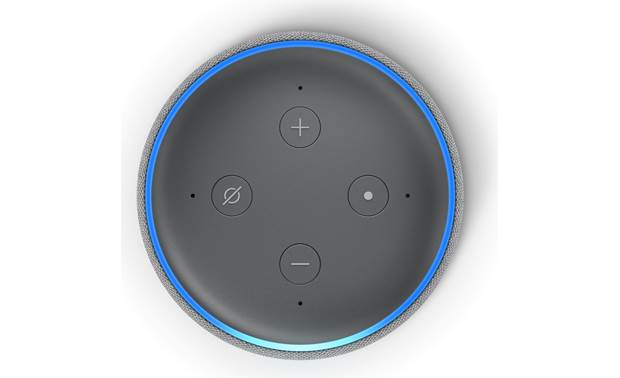 Amazon Echo Dot (3rd Gen, Version 2) Top-mounted control buttons