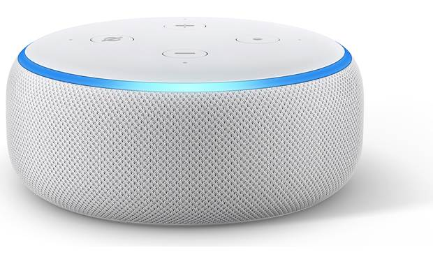 Amazon Echo Dot with Clock  (3rd Gen) Front - with LED display turned off