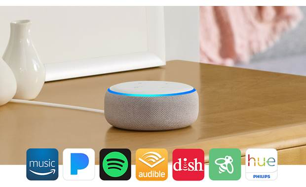 Amazon Echo Dot with Clock  (3rd Gen) Alexa is compatible with a wide range of apps and devices