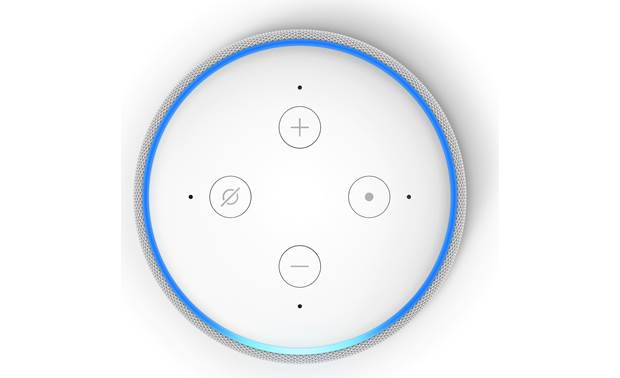 Amazon Echo Dot with Clock  (3rd Gen) Top-panel controls