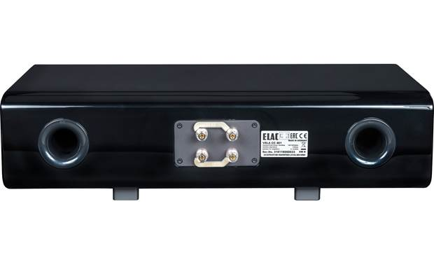 ELAC VELA CC 401 Dual sets of binding posts allow bi-amping or bi-wiring
