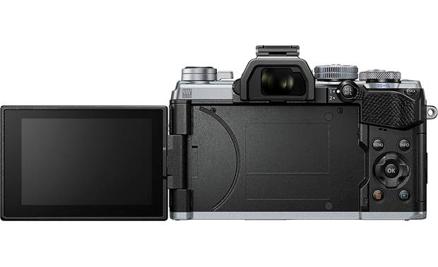 Olympus OM-D E-M5 Mark III Kit Back, with rotating touchscreen flipped out