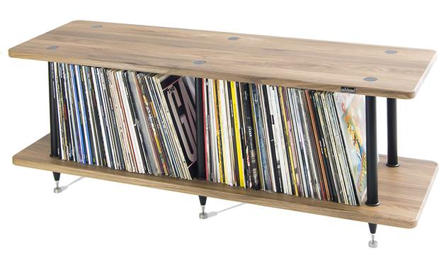 Solidsteel VL-2 Shelving height accomodates vinyl albums (not included)