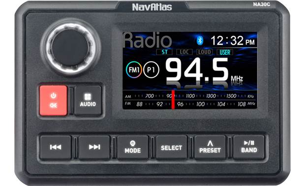 NavAtlas NA30C Add Bluetooth and more sources to your ATV or boat