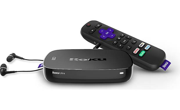 Roku Ultra 4670R (2019 model) Delivers streaming movies, shows, and music to your TV (includes JBL earbuds for personal TV watching)