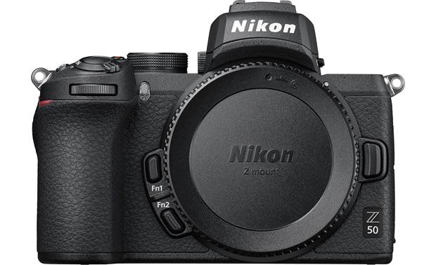 Nikon Z 50 (no lens included) Front, with body cap