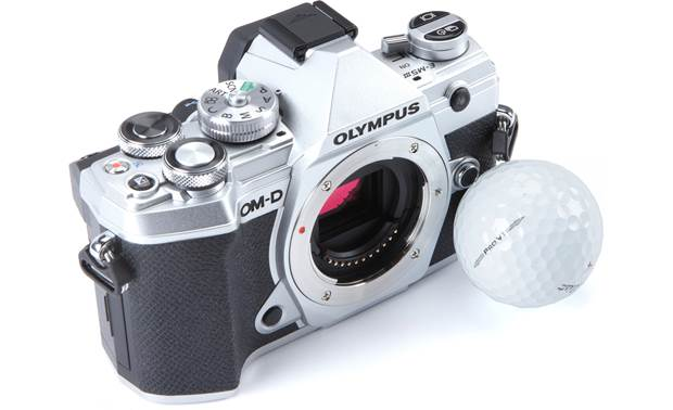 Olympus OM-D E-M5 Mark III (no lens included) Compact camera body is perfect for traveling light (shown in silver)