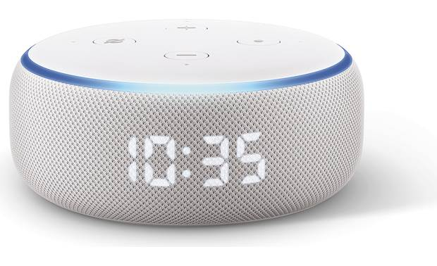 Amazon Echo Dot with Clock  (3rd Gen) Front