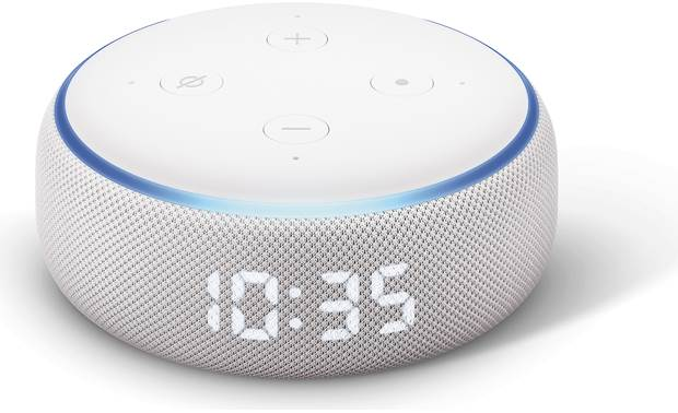 Amazon Echo Dot with Clock  (3rd Gen) Top front