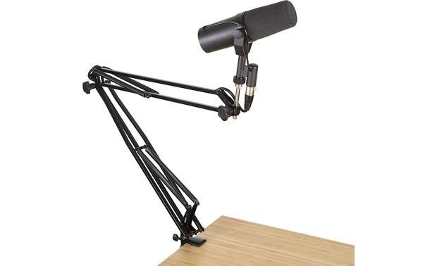 Gator Frameworks Desk-Mounted Broadcast Microphone Boom Stand Full 360° rotation (mic not included)