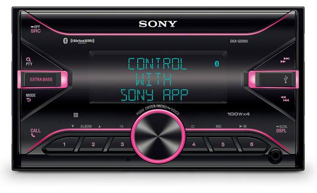 Sony DSX-GS900 Dual-zone variable color illumination allows you to pick the color scheme you want!