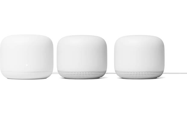 Google Nest Wifi Router and Two Points Front