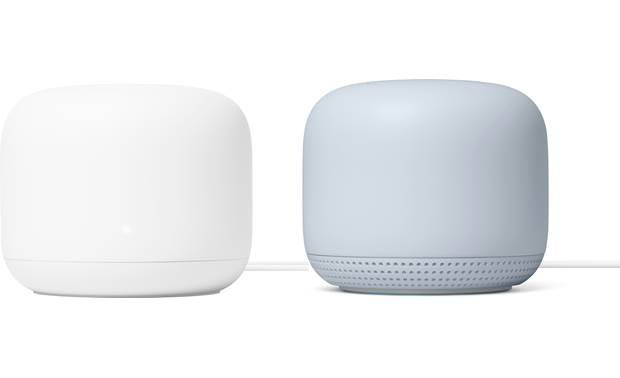 Google Nest Wifi Router and Point Front
