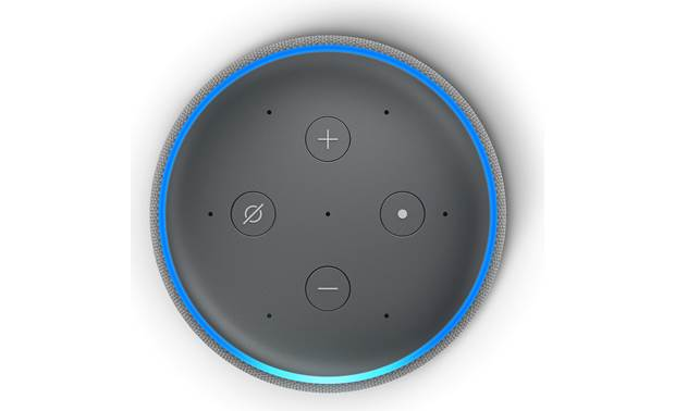 Amazon Echo (3rd Generation) Top-mounted control buttons