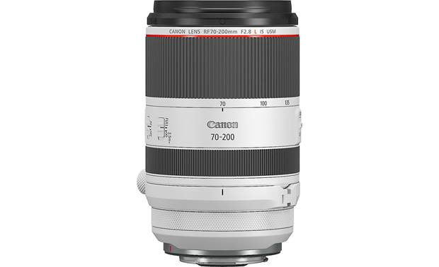 Canon RF 70-200mm f/2.8L IS USM Side view with hood removed