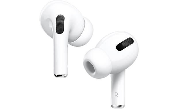 Apple AirPods Pro with Wireless Charging Case includes 3 sizes of silicone ear tips for a comfortable, secure fit