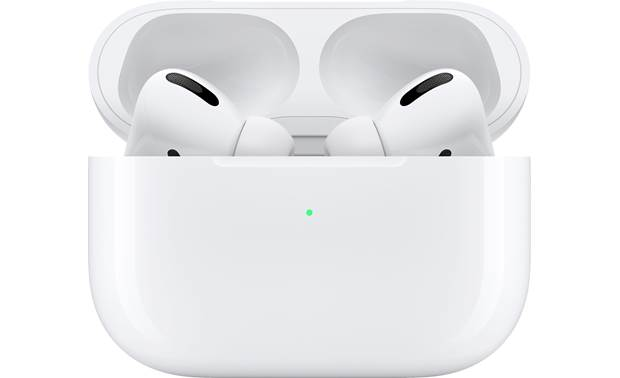 Apple AirPods Pro with Wireless Charging Case Wireless charging case banks up to 24 horus of power to charge the AirPods