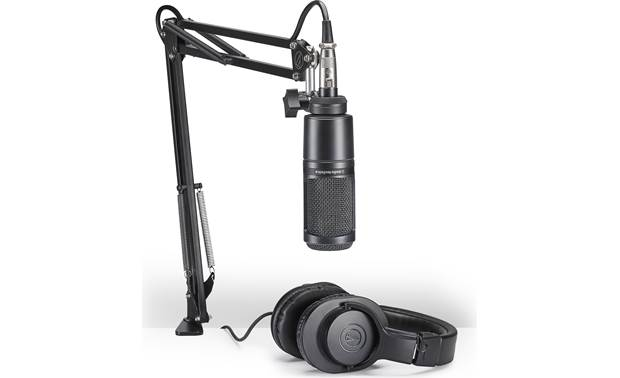 Audio-Technica AT2020PK Podcasting kit includes mic, boom arm, and headphones