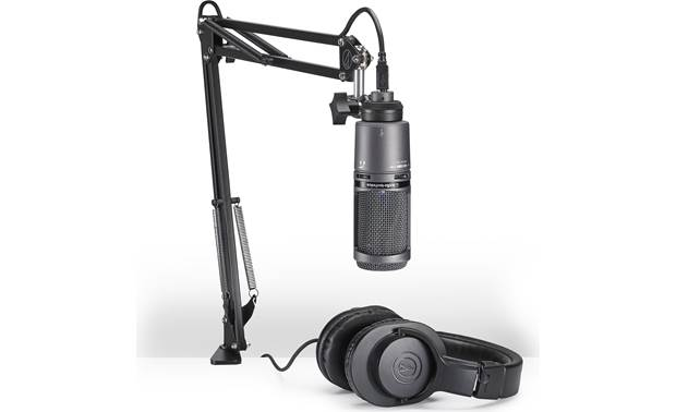 Audio-Technica AT2020USB+PK Includes desktop boom arm and headphones