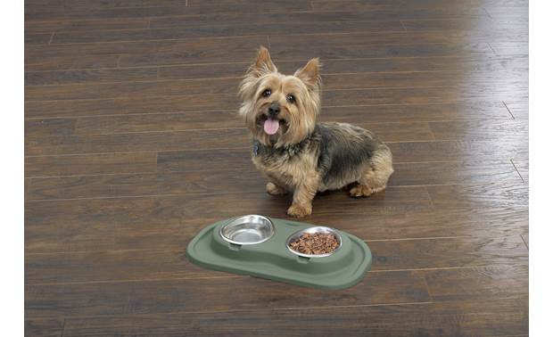 WeatherTech Double Low Pet Feeding System Ergonomically designed to allow your pet strain-free access to their food and water