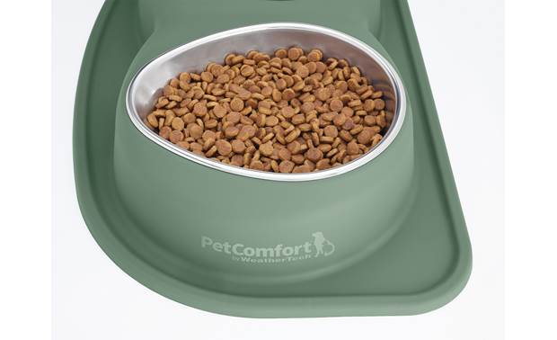 WeatherTech Double Low Pet Feeding System Ergonomically designed bowls provide strain-free access to food and water