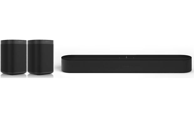 Sonos Beam 5.0 Home Theater System with Sonos One SL Speakers Front