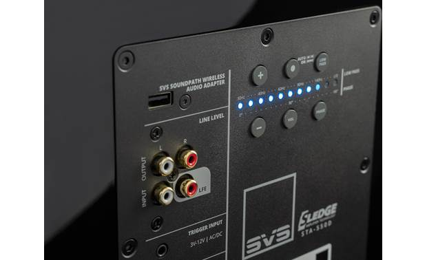 SVS SB-2000 Pro Close-up view of back-panel controls