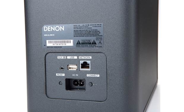 Denon Home Theater System with HEOS Built-in Subwoofer connections detail