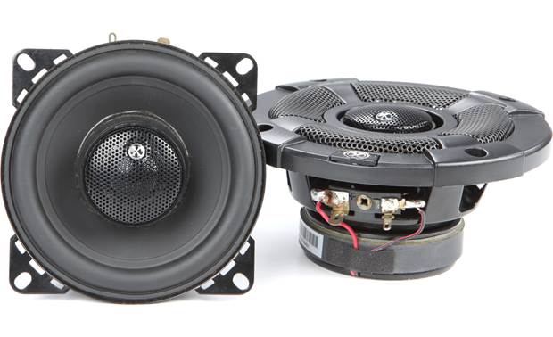 PowerBass XL-42SS includes both black and white aluminum mesh grilles
