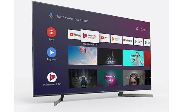 Sony XBR-55X950G Advanced smart TV features with a clean interface