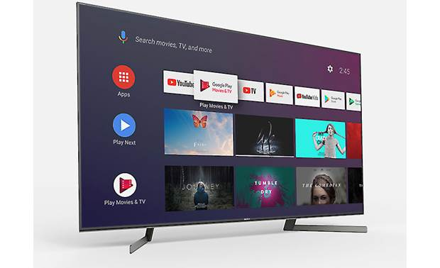 Sony XBR-65X950G Advanced smart TV features with a clean interface