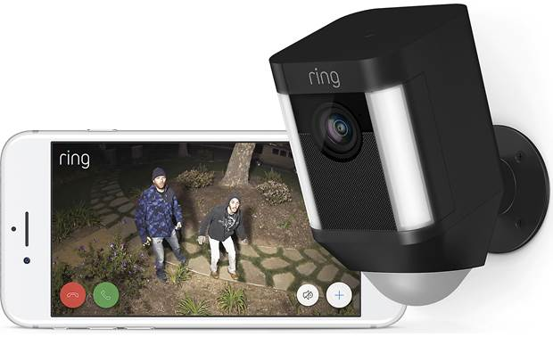 Ring Spotlight Cam Battery 2-Pack If the lights and camera don't stop them in their tracks, the siren might