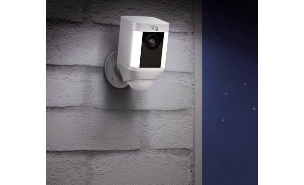 Ring Spotlight Cam Battery 2-Pack The LED spotlights are motion-activated