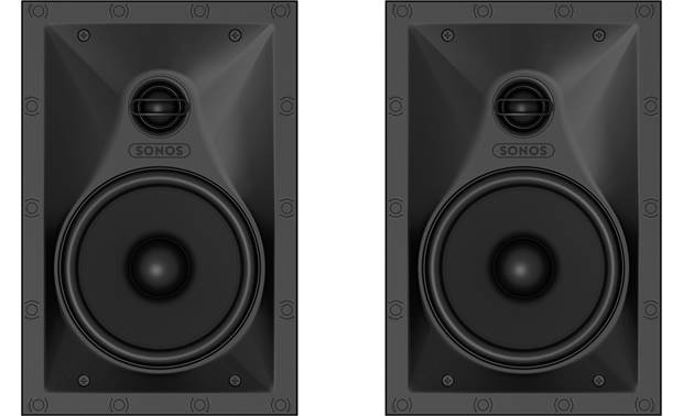 Sonos In-wall Speaker Bundle Speakers shown with grilles removed