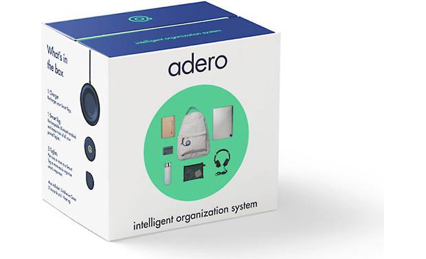 Adero Smart Tag and Taglet Starter Kit Clever packaging steps you through the setup process