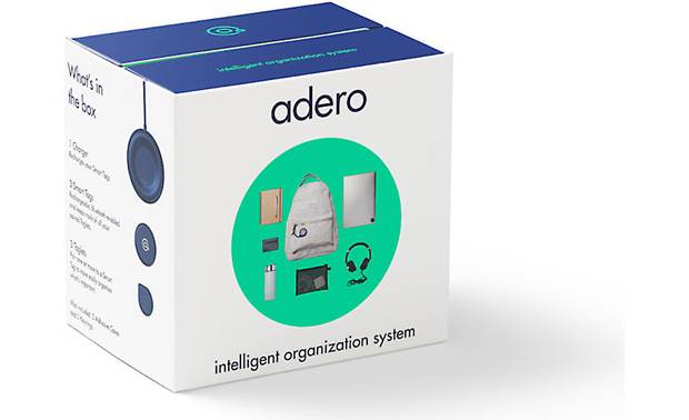 Adero Smart Tag and Taglet Standard Kit Clever packaging steps you through the setup process