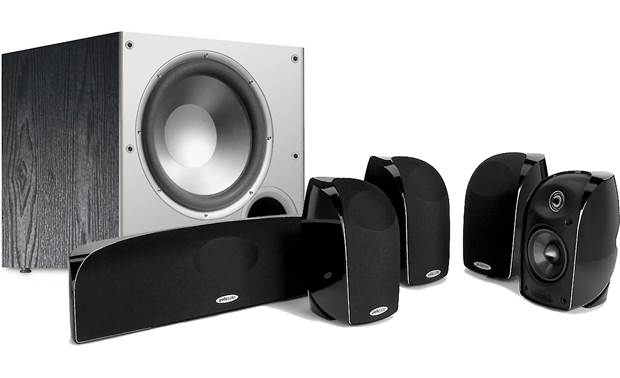 Polk Audio Blackstone™ TL350 Home Theater Bundle Enjoy exciting surround sound from a compact speaker system