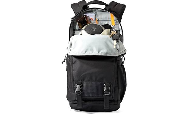 Lowepro Fastpack BP150 AW II Top compartment has multiple pockets and space for personal items