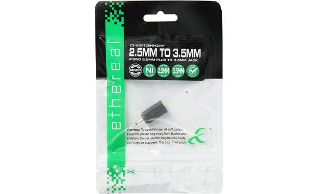 Metra ethereal Mono 3.5mm To 2.5mm Adapter Shown in packaging