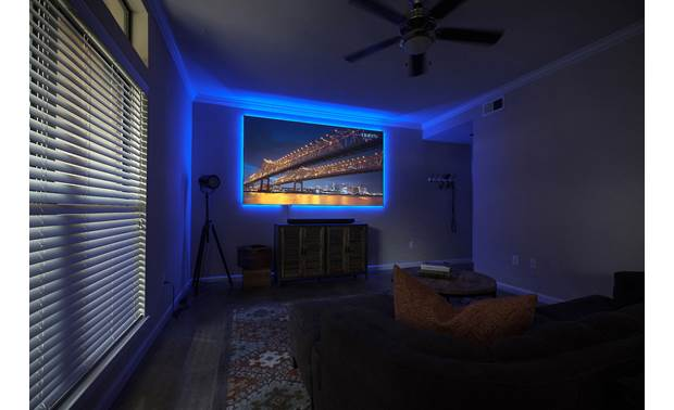 Elite Screens DarkStar® eFinity An LED backlighting kit is included, along with a remote control