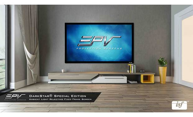 Elite Screens Special Edition DarkStar® Screen material is ISF-certified for accurate color and superb contrast and dynamic range