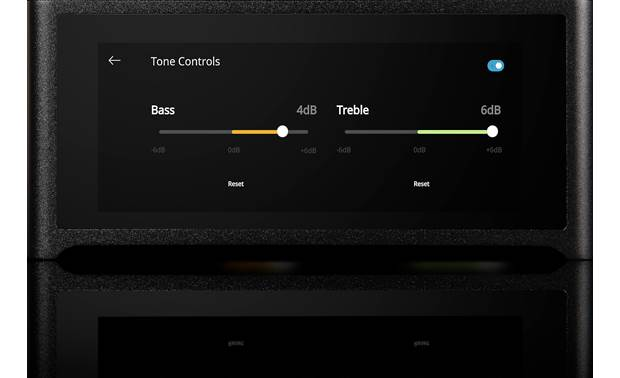 NAD M10 Masters Series Make EQ adjustments with the built-in touchscreen