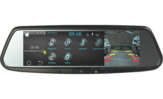Voxx RVM740SM A backup cam view is one of the many views this mirror/monitor provides (Note: backup cam not included)