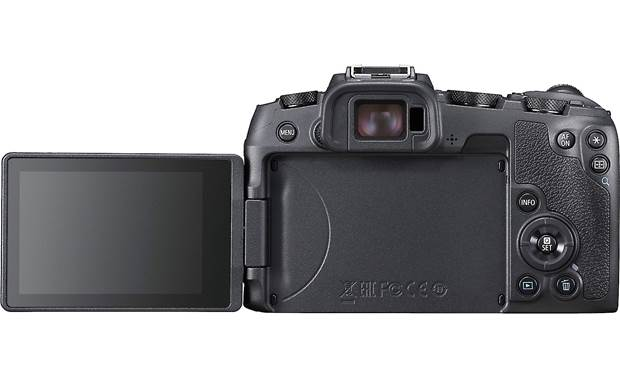 Canon EOS RP L-series Zoom Kit Back, with rotating touchscreen flipped out