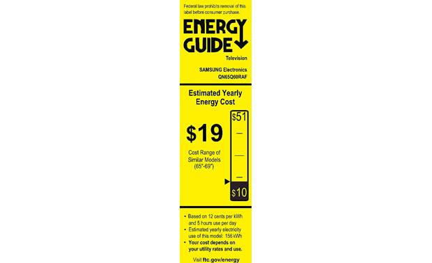 Samsung QN65Q60R Energy Guide