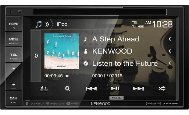 "Kenwood DDX276BT The 6.2"" touchscreen display shows off and lets you control all your media"