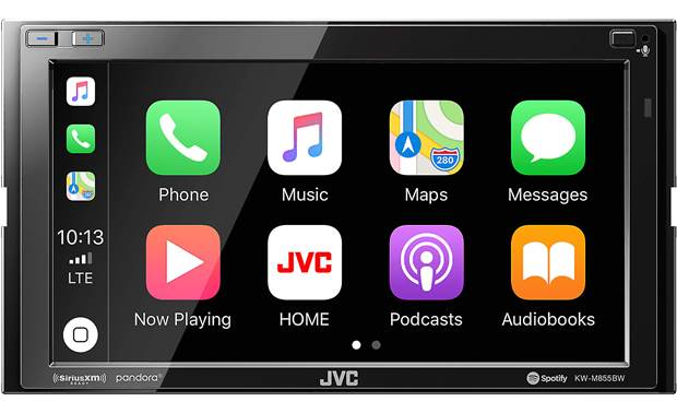 JVC KW-M855BW Wireless Apple CarPlay and wireless Android Auto expand your options