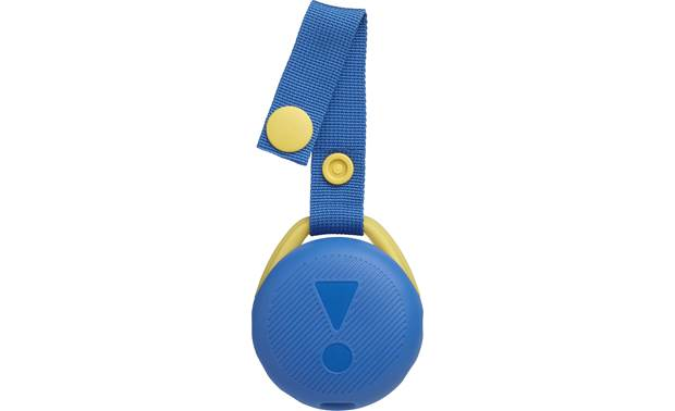 JBL JR POP Cool Blue - carry strap snaps open and shut