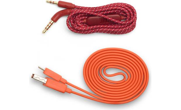 JBL Live 500BT Supplied USB and 3.5mm audio cables